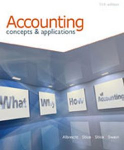 Download Genuine Test Bank for Accounting Concepts and Applications, 11th Edition, Albrecht, 0538745487, 9780538745482