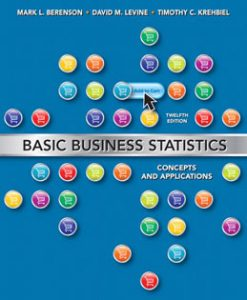 Download Genuine Test Bank for Basic Business Statistics, 12th Edition, Berenson, 0132168383, 9780132168380