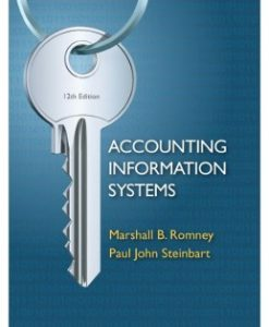 Download Genuine Test Bank for Accounting Information Systems, 12th Edition, Marshall B. Romney, 0132552620, 9780132552622