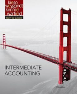 Download Genuine Test Bank for Intermediate Accounting, 15th Edition, Kieso, 1118147294, 9781118147290