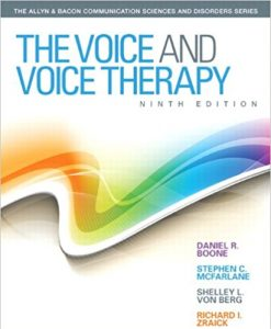 Test Bank for The Voice and Voice Therapy 9e by Boone