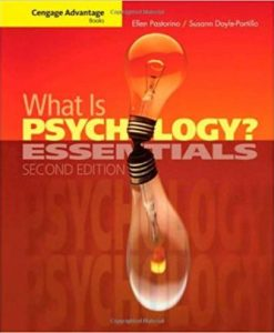 Test Bank for What is Psychology Essentials, 2nd Edition, Pastorino, ISBN-10: 0495987379, ISBN-13: 9780495987376
