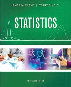 Test Bank for Statistics 13th Edition McClave