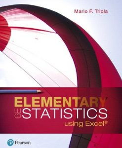 Test Bank for Elementary Statistics Using Excel 6th Edition Triola