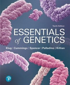 Test Bank for Essentials of Genetics Plus Mastering Genetics 10th Edition Klug
