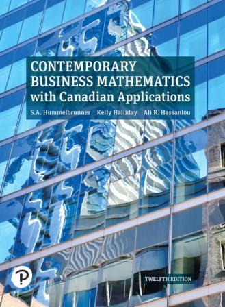 Test Bank for Contemporary Business Mathematics with Canadian Applications 12th Edition Hummelbrunner